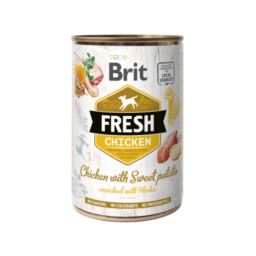 Brit Fresh Cans Chicken with Sweet Potato 400 g