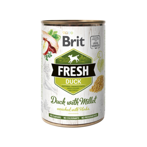 Brit Fresh Cans Duck with Millet 400 g