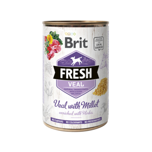 Brit Fresh Cans Veal with Millet 400 g