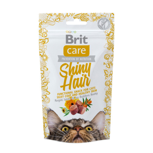 Brit Care Cat Snack Shiny Hair (lax) 50g