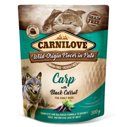 Carnilove Dog Pouch Paté Carp with Black Carrot 300g