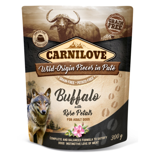 Carnilove Dog Pouch Paté Buffalo with Rose Petals 300g