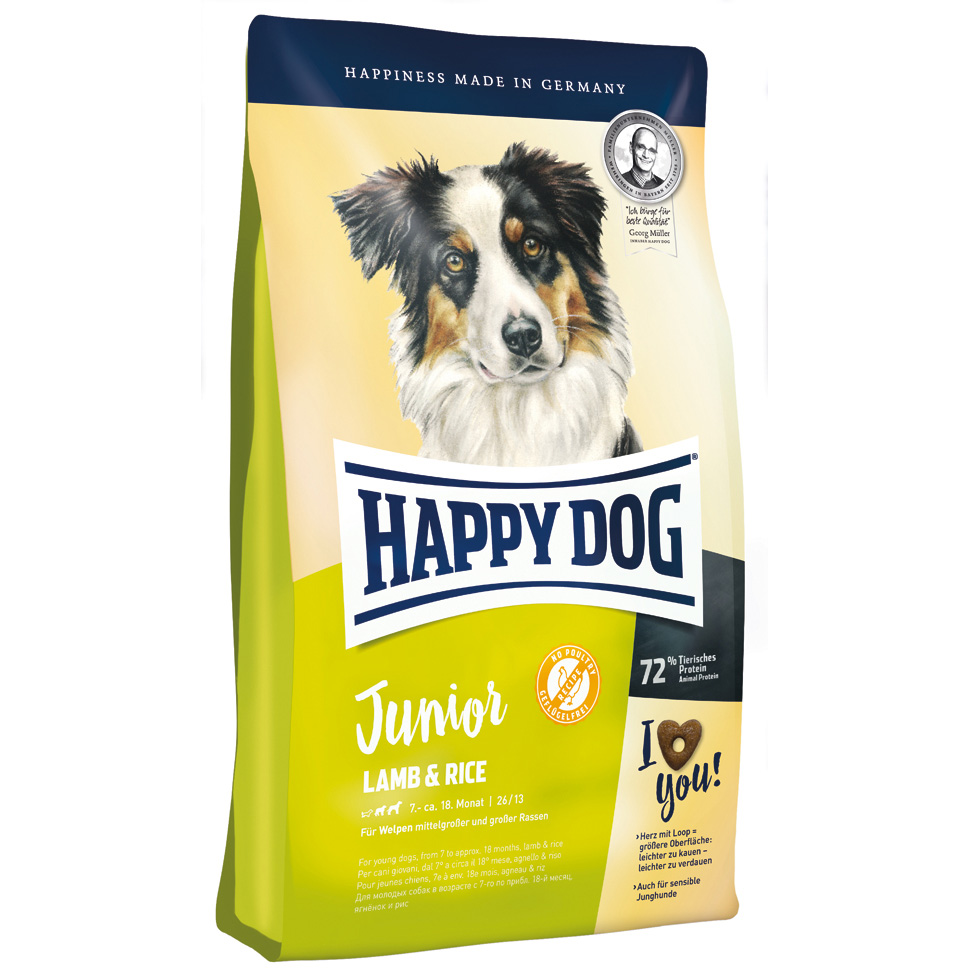 HappyDog Junior Lamb & Rice 4 kg