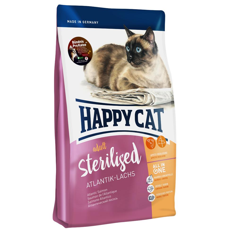 HappyCat Adult sterilised lax 4 kg