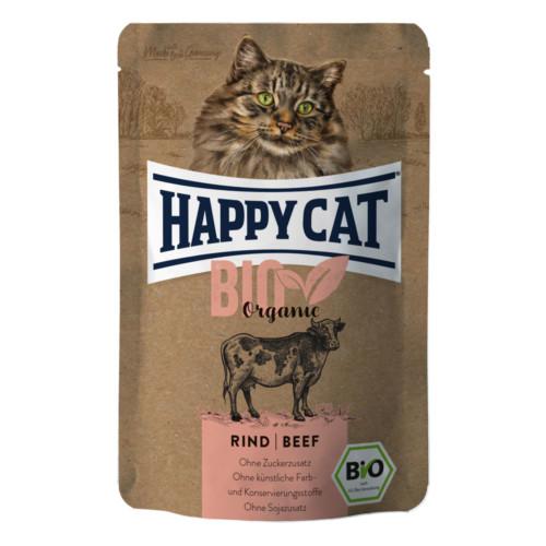 HappyCat våt Bio Organic oxkött 85g