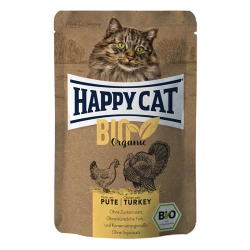 HappyCat våt Bio Organic kyckling & kalkon 85g
