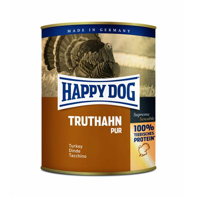 UTGÅTT HappyDog konserv 100% animalisk kalkon 800g