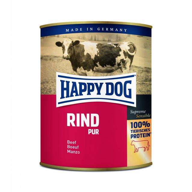 UTGÅTT HappyDog konserv 100% animalisk oxkött 800g