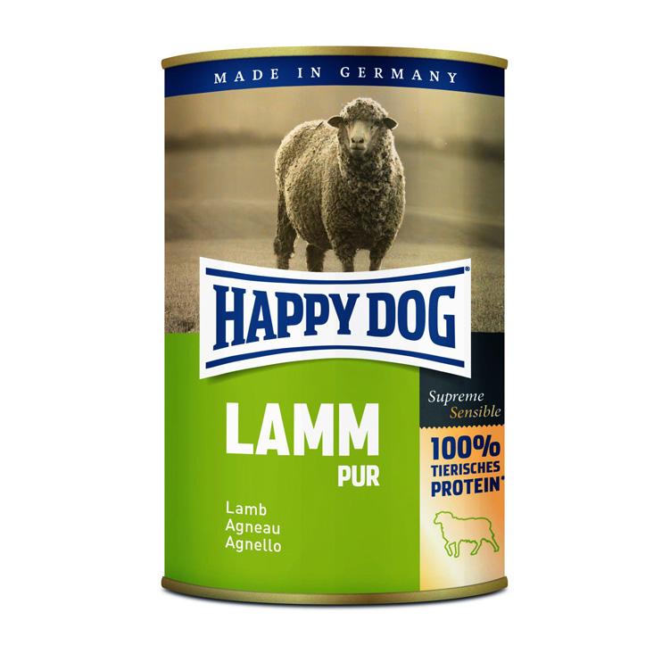 HappyDog konserv 100% animalisk lamm 400g
