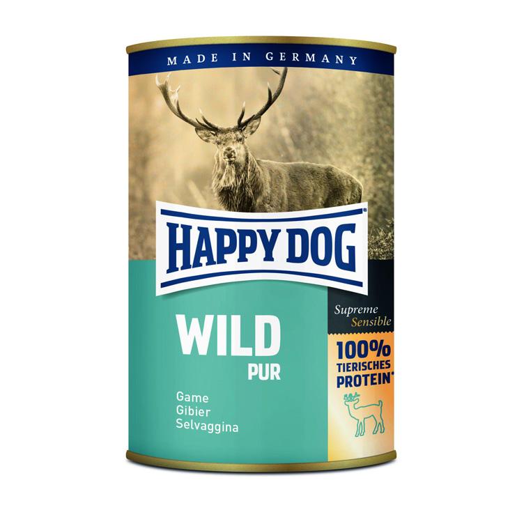 HappyDog konserv 100% animalisk vilt 400g