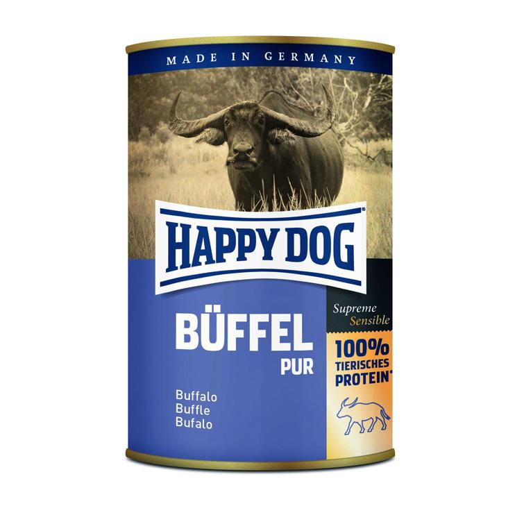 HappyDog konserv 100% animalisk buffel 400g
