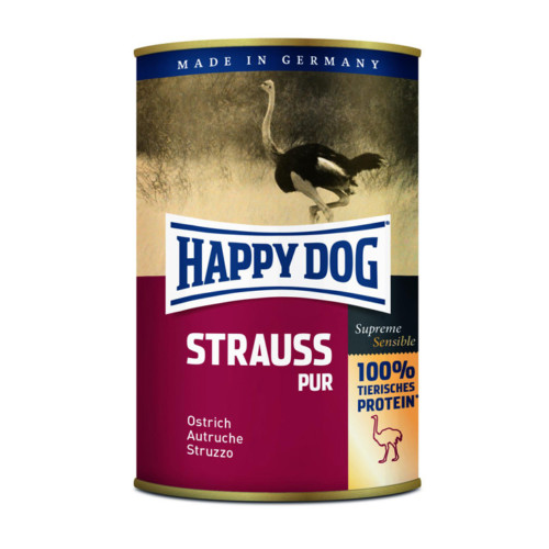 HappyDog konserv 100% animalisk struts 400g
