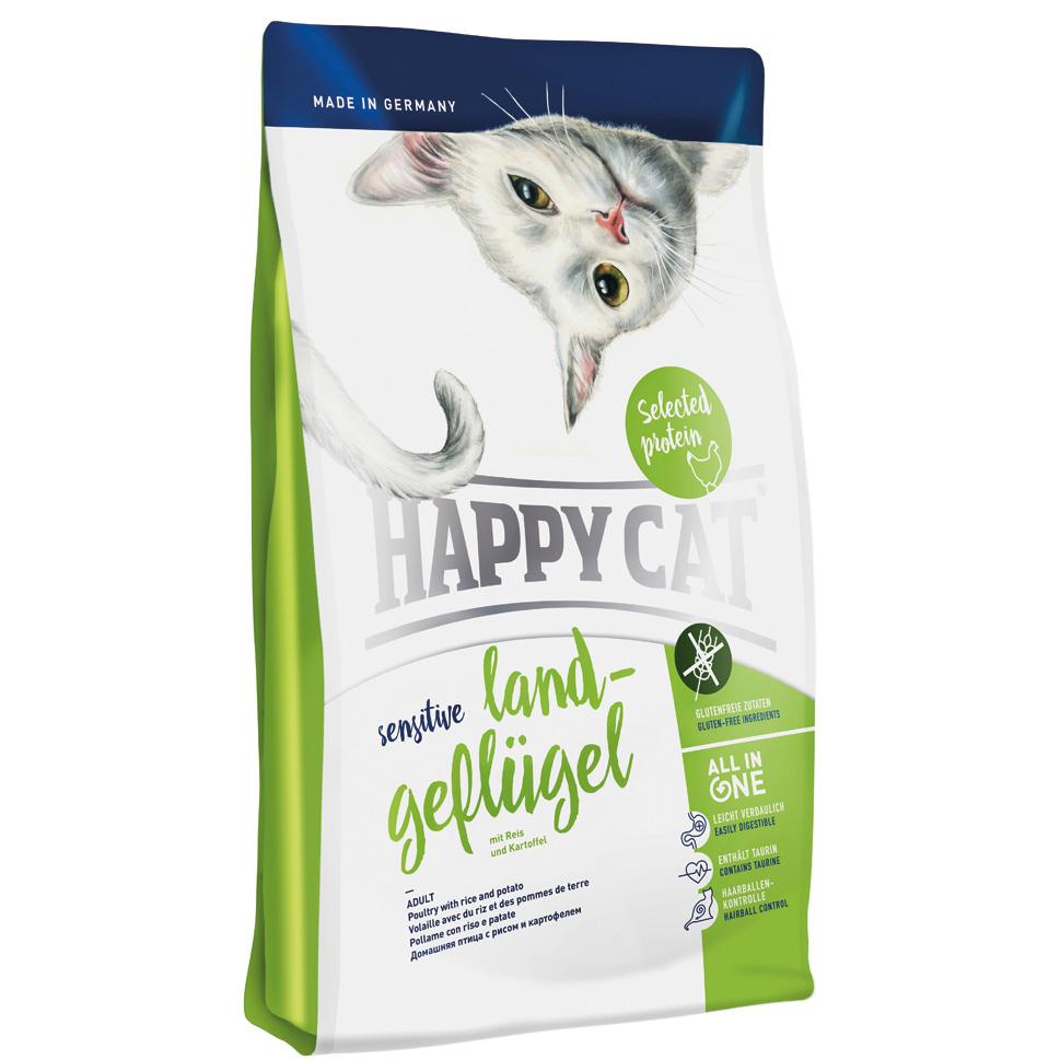 HappyCat Sens.Singelprot. fågel 1,4 kg