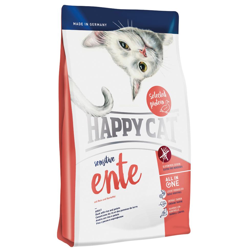 HappyCat Sens.Singelprot. anka 1,4 kg