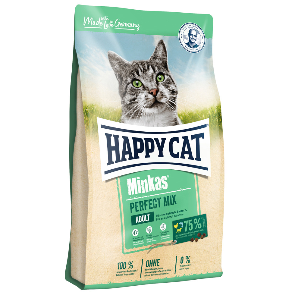 HappyCat Minkas Perfect Mix, fågel/fisk/lamm, 10 kg
