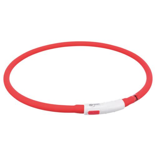 Flash light ring USB, silikon, röd