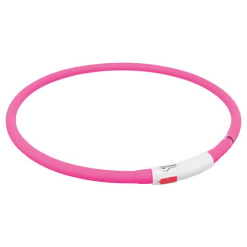 Flash light ring USB, silikon, rosa