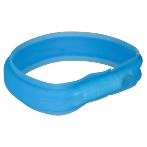 Flash light band USB M-L: 50 cm/30 mm blå
