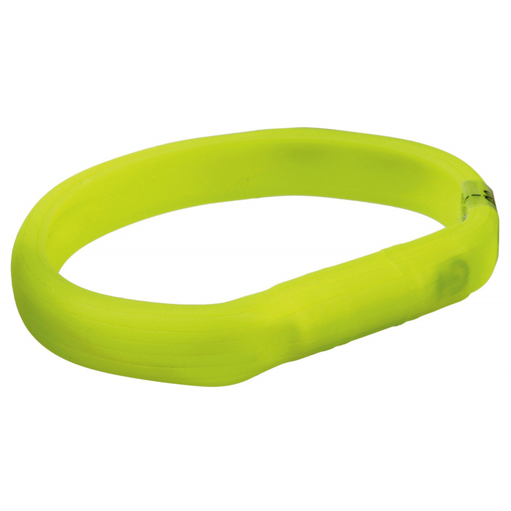 Flash light band USB M-L: 50 cm/17 mm limegrön