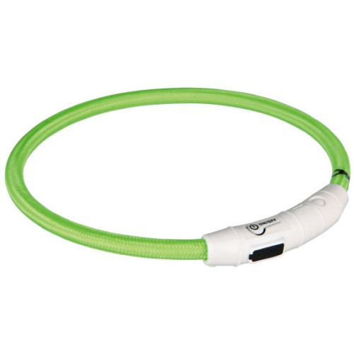 Flash light ring USB, L-XL: 65 cm/ø 7 mm, limegrön
