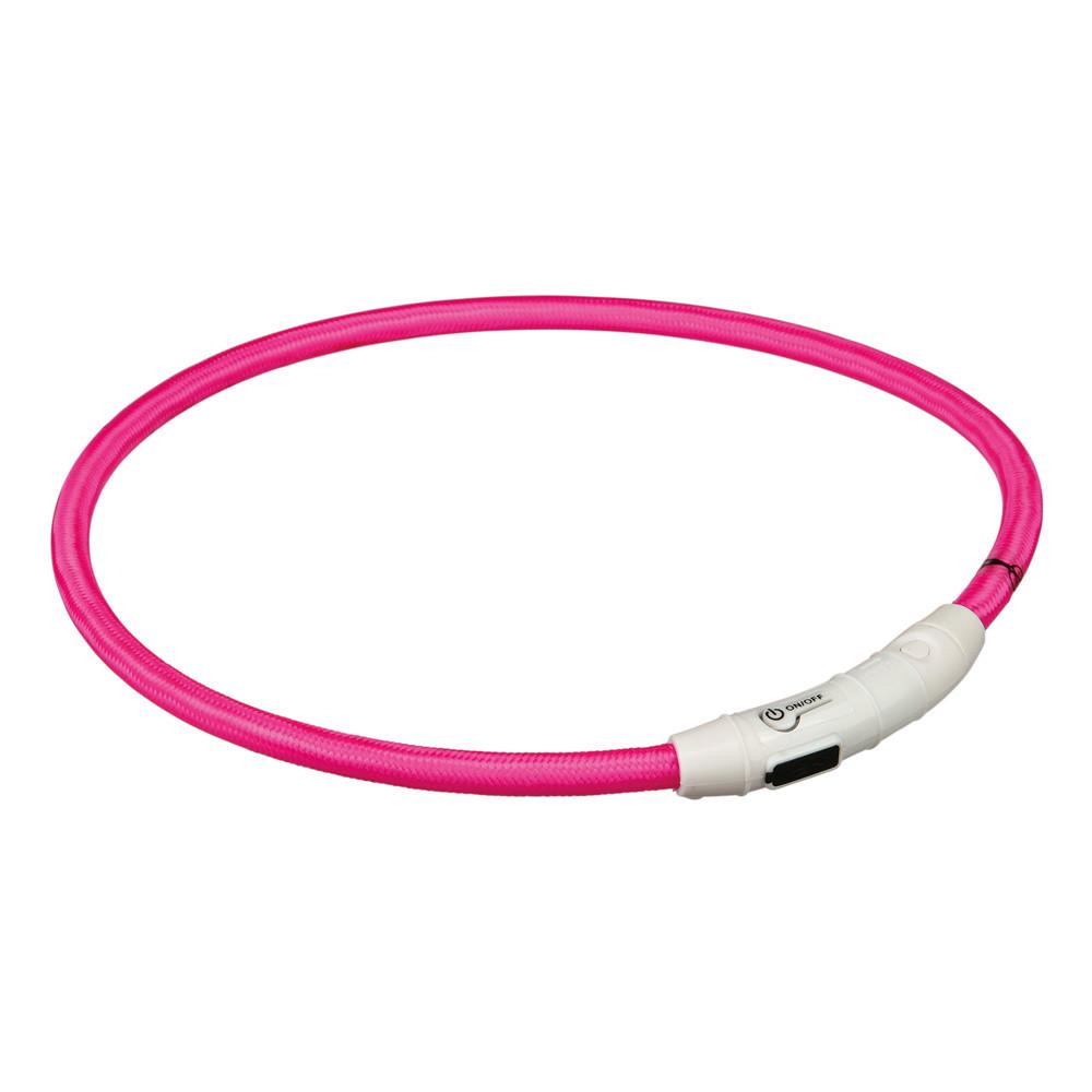 Flash light ring USB, L-XL: 65 cm/ø 7 mm, rosa