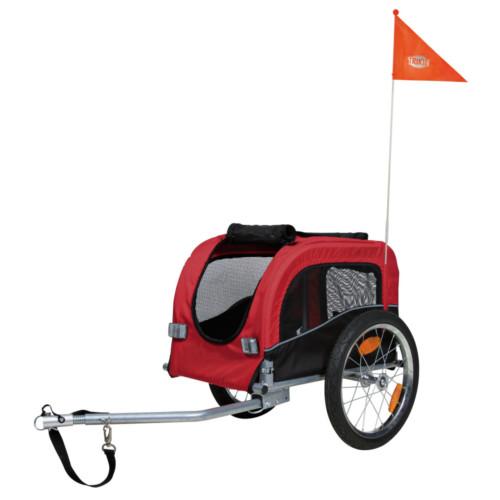 Cykelvagn Röd/Svart 60x57x80 cm