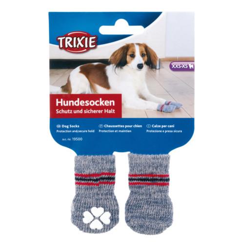 Hundsock 2-pack non-slip Grå L