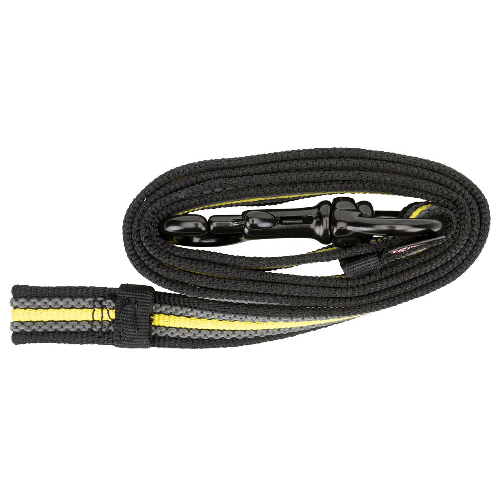 Fusion Sporting träningskoppel, S-L: 1.00 m/17 mm, svart/gul
