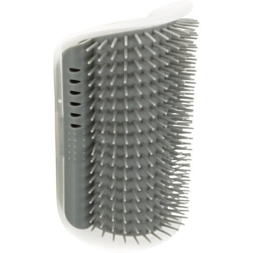 Massageborste för hörnmontering, katt, 8 × 13 cm