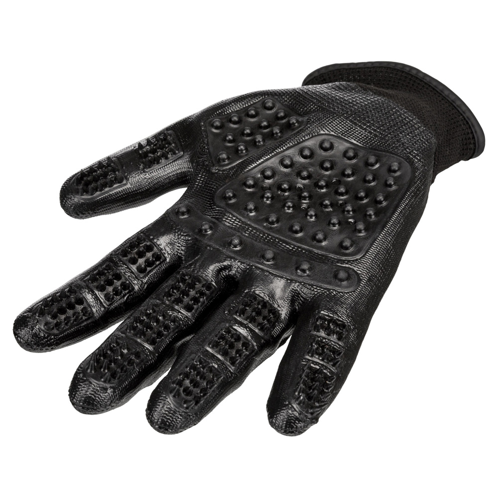 Pälsvårdshandske 1 par nylon/gummi 16x23 cm svart
