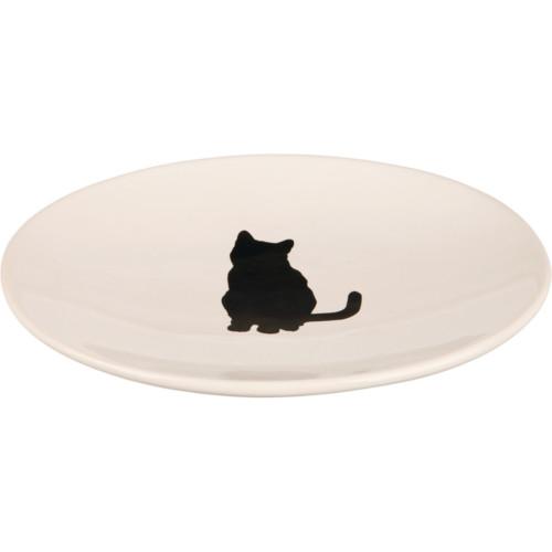 Keramik skål katt 18×15 cm vit