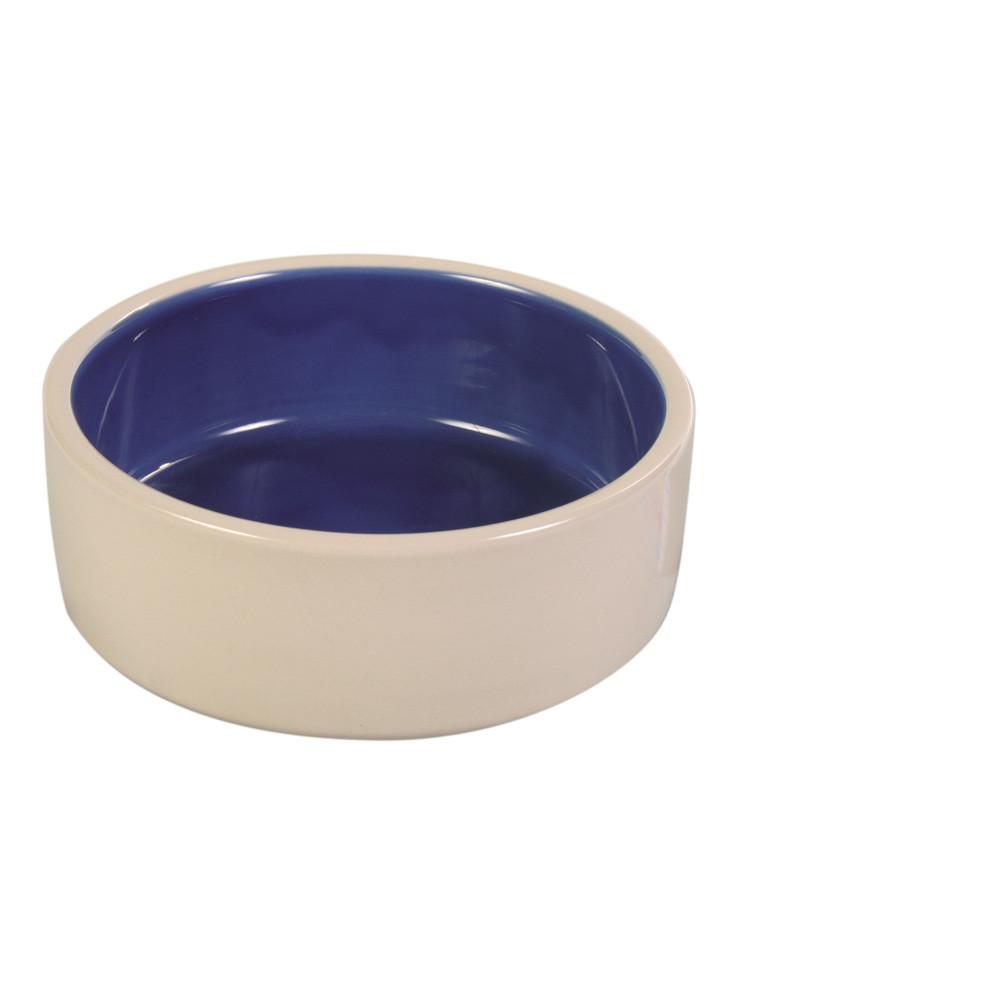 Keramikskål Vit/Blå 12 L 18 cm