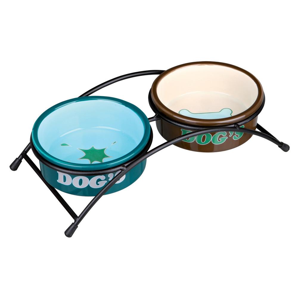 Matbar m Keramikskålar Cream/Mint 2x03 L