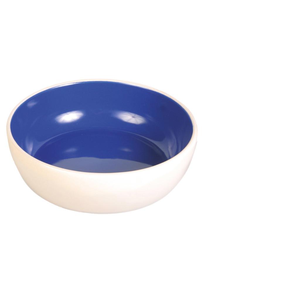 Keramikskål katt Vit/Blå 02 L 13 cm