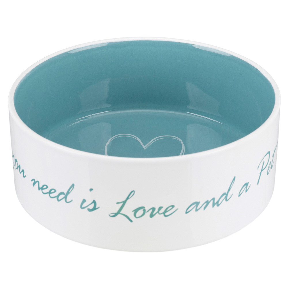 Pet's Home keramikskål 1.4 l/ø20cm cream/petrol