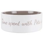 Pet's Home keramikskål, 1.4 l cream/taupe