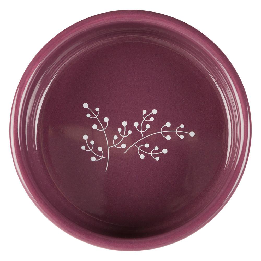 Keramikskål, 0.3 l/ø 12 cm, vit/berry