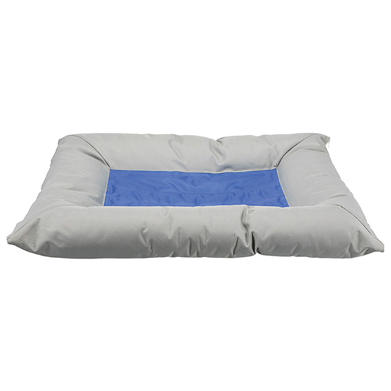 Kyldyna/bädd, 75 × 50 cm, ljusgrå/blå