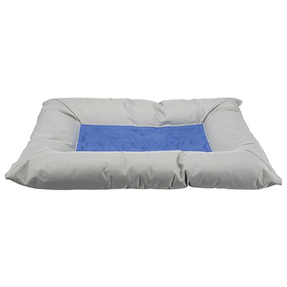 Kyldyna/bädd, 90 × 55 cm, ljusgrå/blå