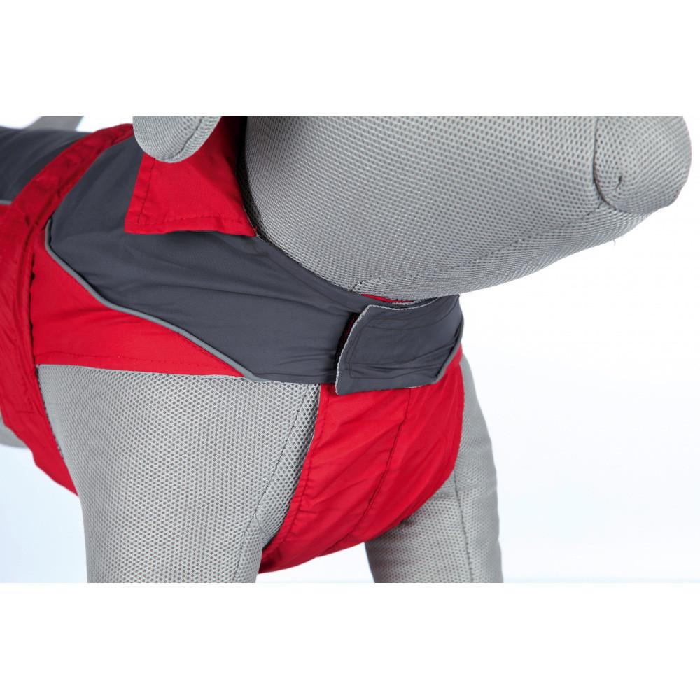 Lorient Regntäcke 45cm röd/grå