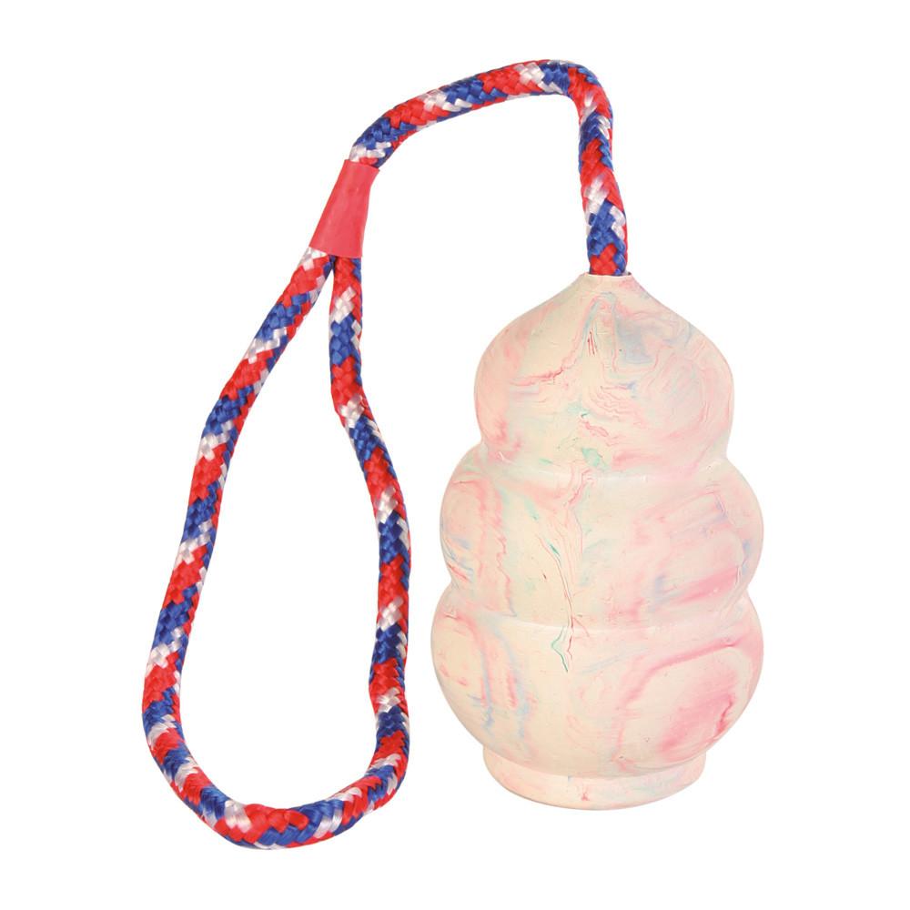 Gummikong med rep 8/30 cm