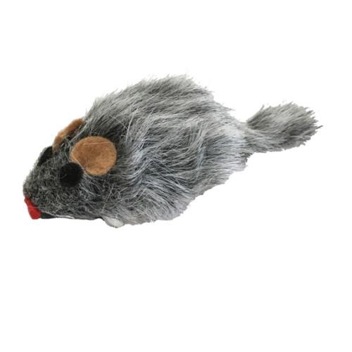 UTGÅTT Kattleksak Vibromouse 6cm päls
