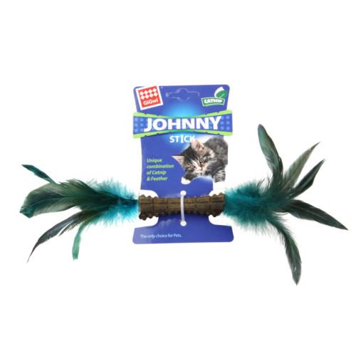 Johnny Stick GiGwi kattleksak blå/grön