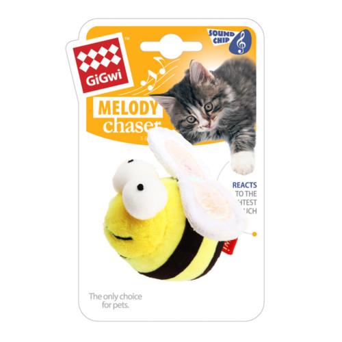 Melody Chaser GiGwi kattleksak svart/gul