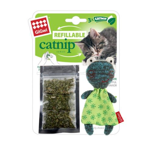 Refillable Catnip GiGwi kattle grön