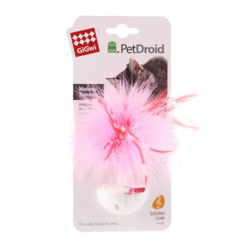 GiGwi Wobble Feather Pet Droid kattl vit