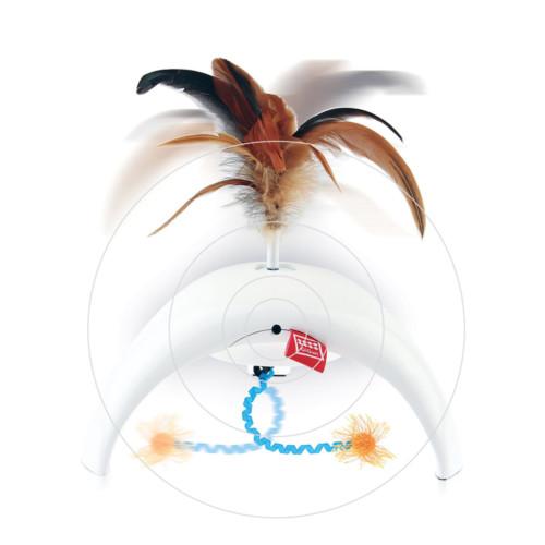 GiGwi Feather Spinner Pet Droid katt vit