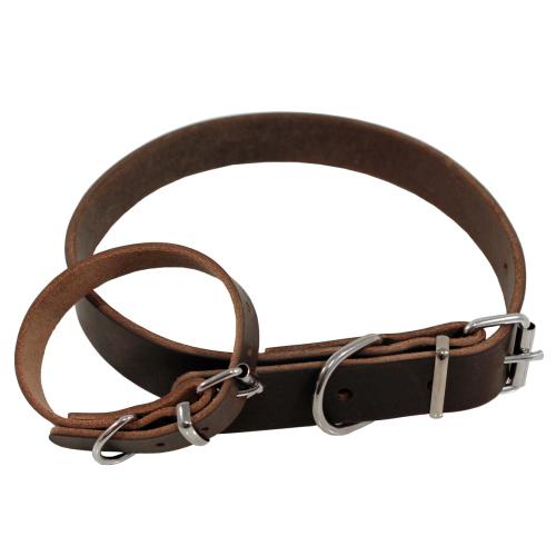 *Halsband infettat brun 35cm