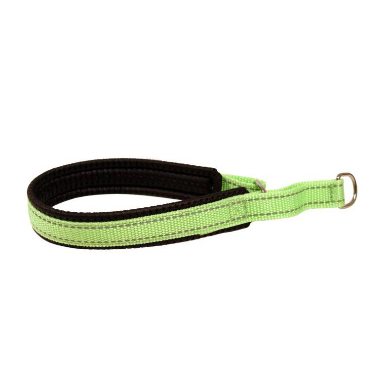 Halvstryp med reflex grönt 35cm