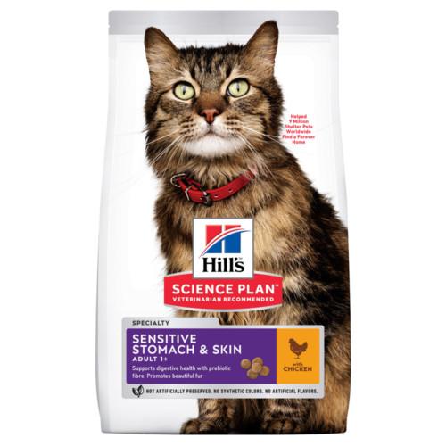 Hills Feline Adult Sen.Stomach & Skin Chicken 7kg